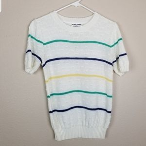Alfred Dunner| striped short sleeve sweater size S